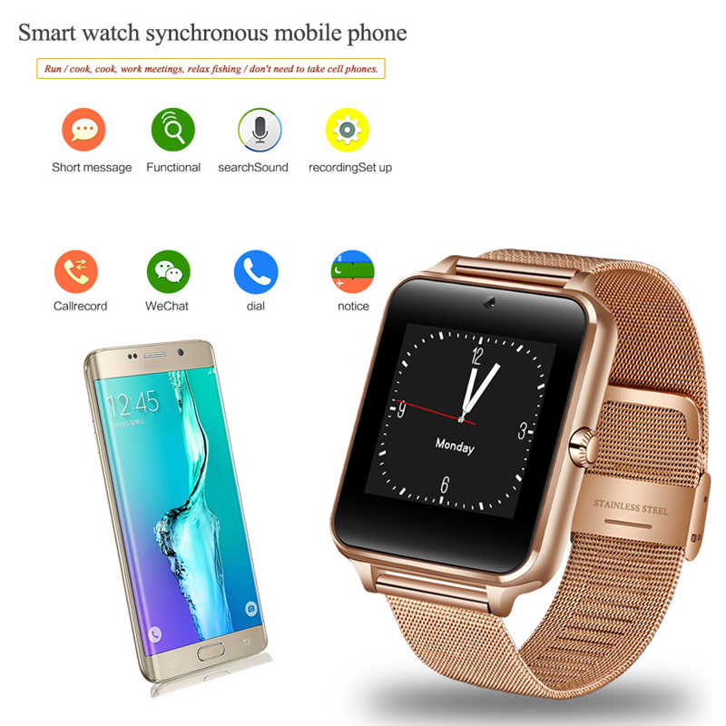 Smart Watch Android GT08 Clock With Sim Card Slot Push Message Bluetooth Connectivity Android Phone PK DZ09 Smartwatch Z60 2019