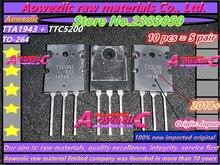 Aoweziic 5 par 2018 + {Origem: japão} 100% novo importado originais TTA1943 TTC5200 A1943 C5200 PARA 264 alta amplificador de potência