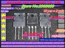 Aoweziic 5pair 2018 + {المنشأ: اليابان} 100% جديد المستوردة الأصلي TTA1943 TTC5200 A1943 C5200 TO 264 عالية مكبر كهربائي