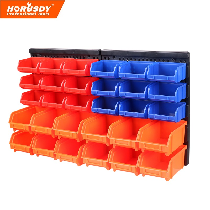horusdy bins wall mount parts rack screw parts stackable combinational storage stacking bins. Black Bedroom Furniture Sets. Home Design Ideas