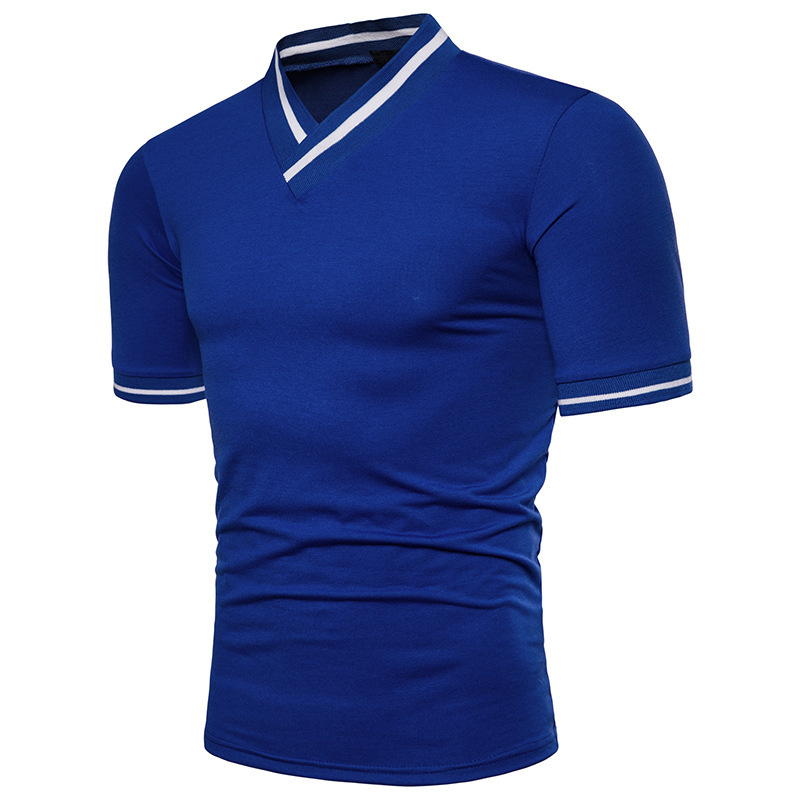 Men Fashion Tops Short Sleeves and V Neck Casual Pullover T-shirt mens clothing t shirts