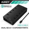 Aukey Phone Charger 2x Quick Charge 3.0 + 8x AIPower USB Charger Universal Travel Charger for iPhone Samsung Sony HTC Xiaomi