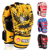 2015 Hot Sale Zooboo Half Finger Boxing Gloves Kung Fu Fighting Muay Thai Martial Arts Gloves