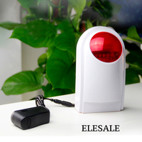 Wireless Alarm Outdoor Waterproof Flash Siren Sound Strobe Flash Alarm Siren For GSM Home Security Alarm System