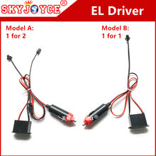 Neon EL driver 1 for 1 and 1 for 2 driver EL ballast power reactor Flexible EL Tape Wire Rope Tube Neon White Orange car light(China)