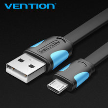 Vention Micro USB2.0 Cable For Mobile Phone Charging Cable Super Charger 1.5m 1m USB Data Sync Cable For Samsung Android Cable(China)