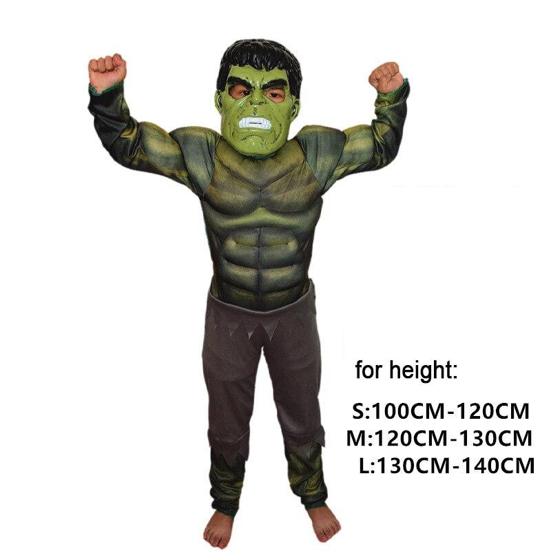 Костюм супергероя «Капитан Америка» для мальчиков «Человек паук», «Бэтмен», «Халк», «Железный человек», «Тор», костюм для детей, подарки на