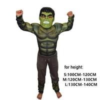 Boys Muscle Super Hero Captain America Costume SpiderMan Batman Hulk iron man Thor Cosplay for Kids gifts Children's Day