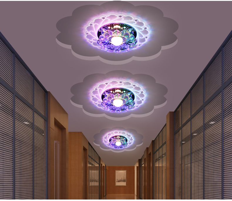 Kathy creative aisle lights corridor lamp LED crystal lamp porch lights home ceiling lamps downlight modern minimalist SD129 цены