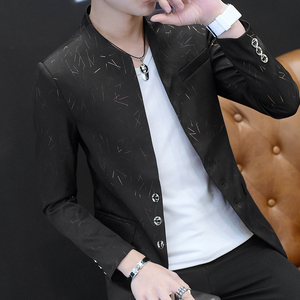 Image 4 - Chinese Style Mens Slim Fit Blazer Men Design Plus Size Tunic Man Casual Male Slim Fit Suit Jacket Singer Costume 6XL 5XL