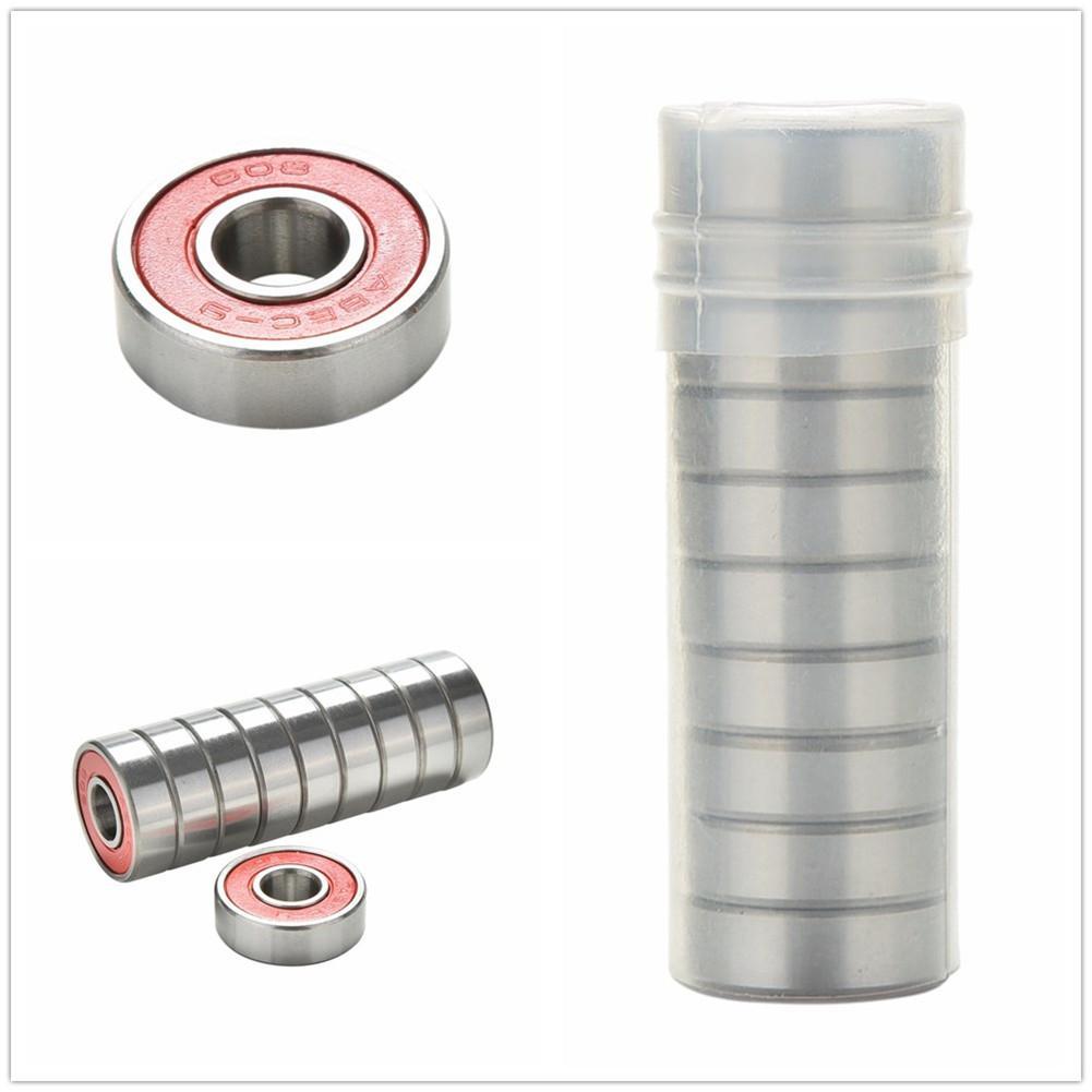 Mounchain 10PCS Chrome Steel Bearings For Roller Skate Scooter Skateboard Wheel Bearings Gcr15 High Performance Roller