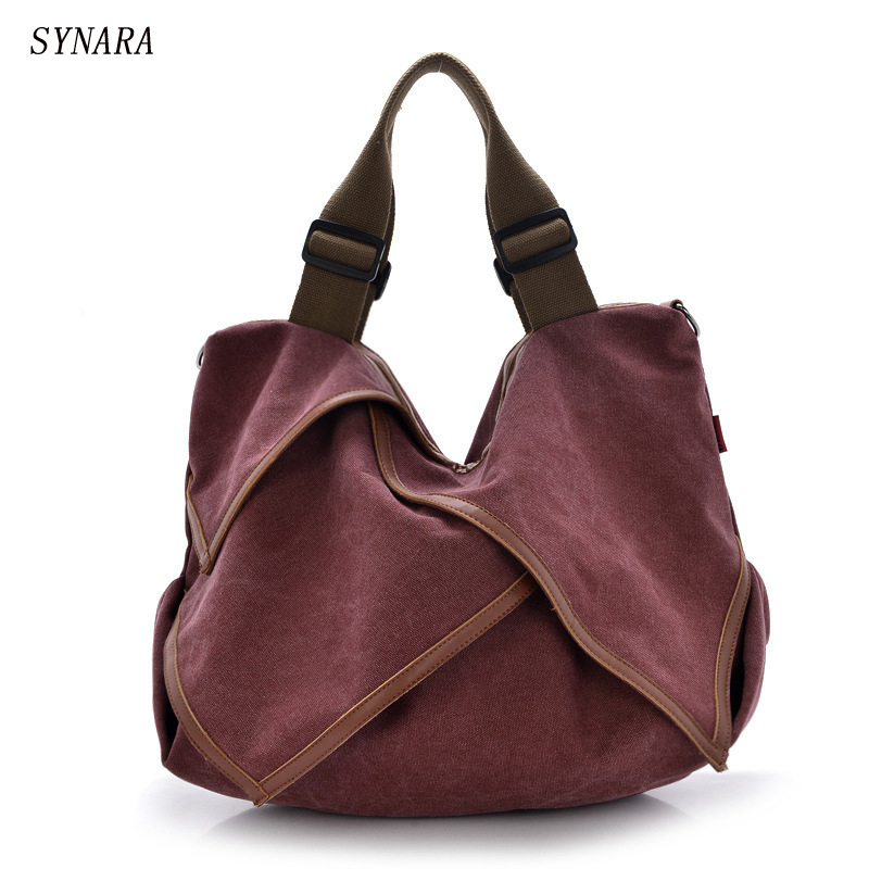 High Quality Big Women Canvas Handbag Shoulder Bags Stylish Casual Women Bag for Travel Lady Crossbody Bag Messenger Bags фен щетка bosch prosalonstyle assistant activecurlcreator pha7371 page 7