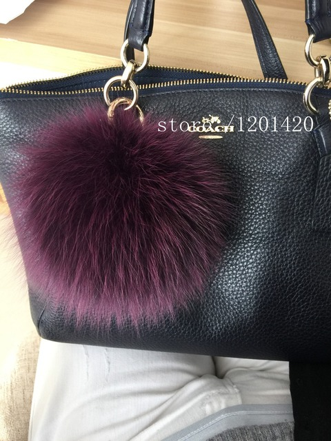 6439a8e20e Fur Bag Charm Real Furry Pompom Luxury Handbag Charm Fashion Monster Bag  Bug Charm Large Genuine