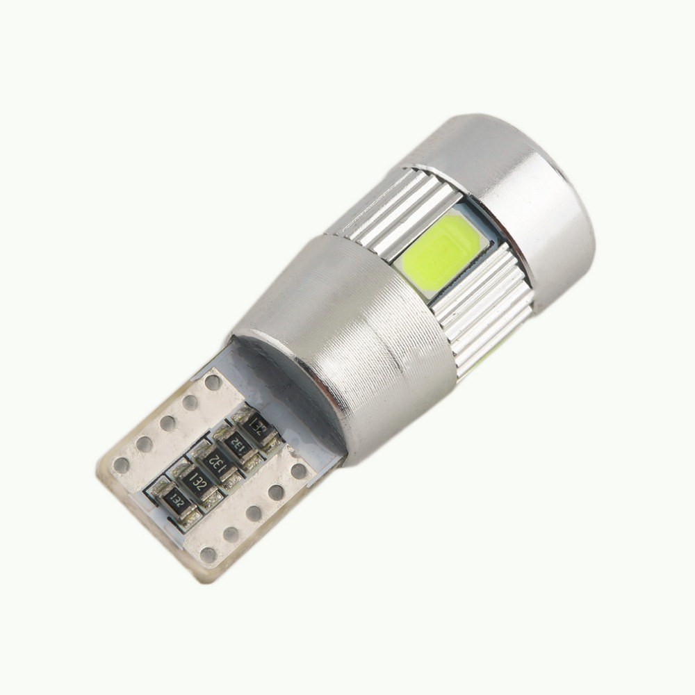 1/2/4PCs Canbus Error Free T10 194 501 W5W 5630 6SMD COB LED White High Power Car Auto Wedge Lights Parking Bulb Lamp DC12V t10 3w 144lm 6 x smd 5630 led error free canbus white light car lamp dc 12v 2 pcs