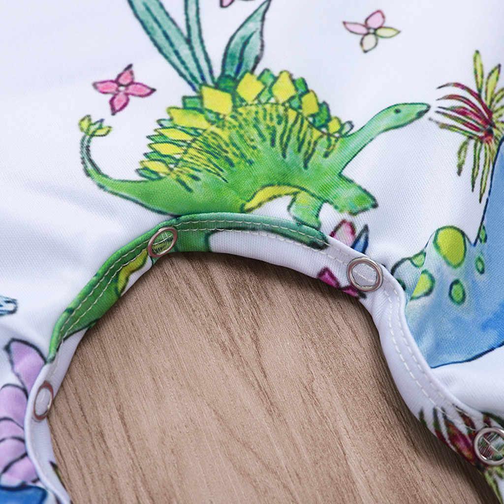Дети для маленьких девочек мультфильм Цветочный принт комбинезоны детские одежда комплекты одежды для мальчиков и девочек; roupas de bebe; Платья для маленьких девочек; ensemble fille; 2019