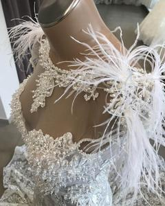 Image 2 - Robe De Mariee Luxury Customized Lace Beading Wedding Dress 2019 Elegant Backless Mermaid Wedding Gowns Court Train Bridal Dress