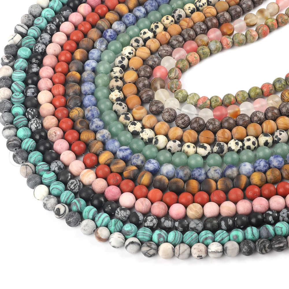 4 6 8 10mm contas de pedra natural fosco rosa quartzo roxo ametistas redondos grânulos soltos para fazer jóias diy pulseira colar