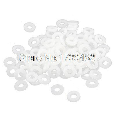 5mm x 2.5mm x 1mm Nylon Flat Insulating Washers Spacer Gasket Beige 100pcs rc car spacer washer flat head gasket aluminum black 6 x3 5mm spacer washers top quality free shipping 10pcs lot