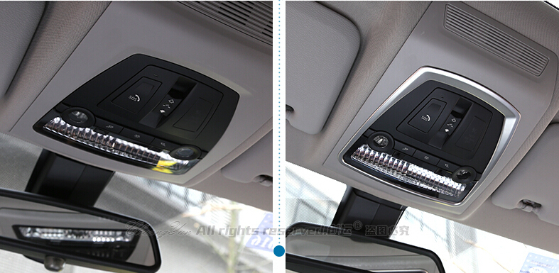 buy front reading light cover car interior trim 2011 2015 for bmw x3 f25 from. Black Bedroom Furniture Sets. Home Design Ideas