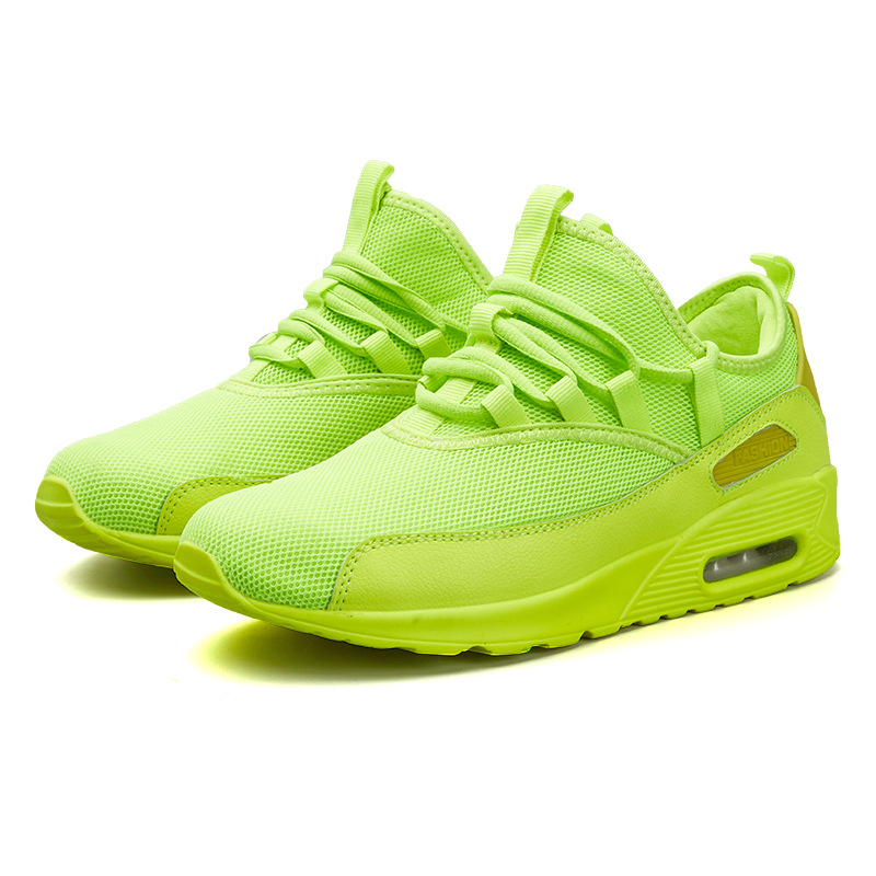 Unisex Neon Shoes White Sneakers Men Women Summer Casual Shoes Basket Sports Shoes For Male Tenis Breathable Light Mens Trainers