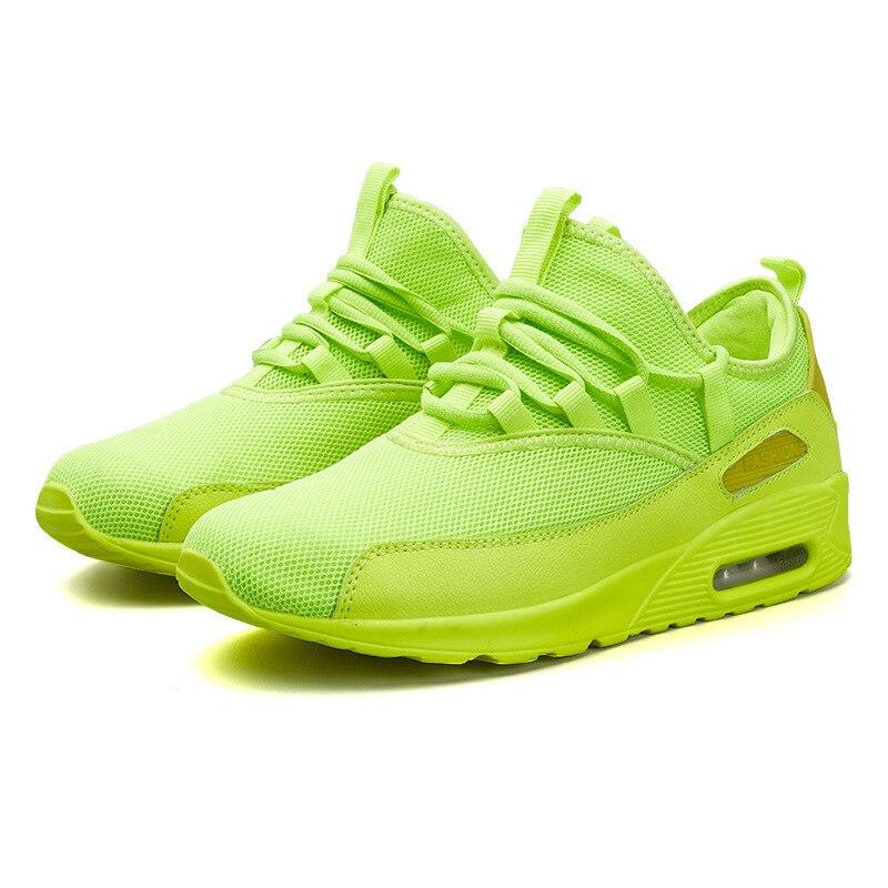 Unisexe chaussures néon blanc baskets hommes femmes été chaussures décontractées Basket chaussures de sport pour hommes Tenis respirant lumière hommes formateurs