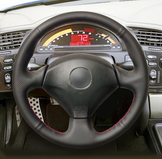 Housse de volant en cuir artificiel noir housse de volant en cuir artificiel noir pour Honda S2000 20