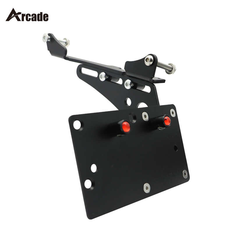 Arcade Motorcycle Tail Light Side Mount License Plate Bracket For Harley Davidson Sportster Iron 883 XL883 XL1200 72 48 new motorcycle brake clutch lever assembly for harley sportst 883 1200 xl883 xl1200 48 72 iron superlow 2014 2015 2016 2017