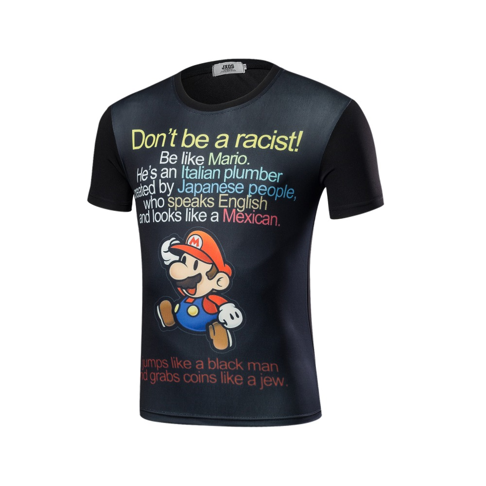 New design, 3 d computer printing O neck printed shirts with short sleeves T-shirt men's T-shirt fashion knit tights