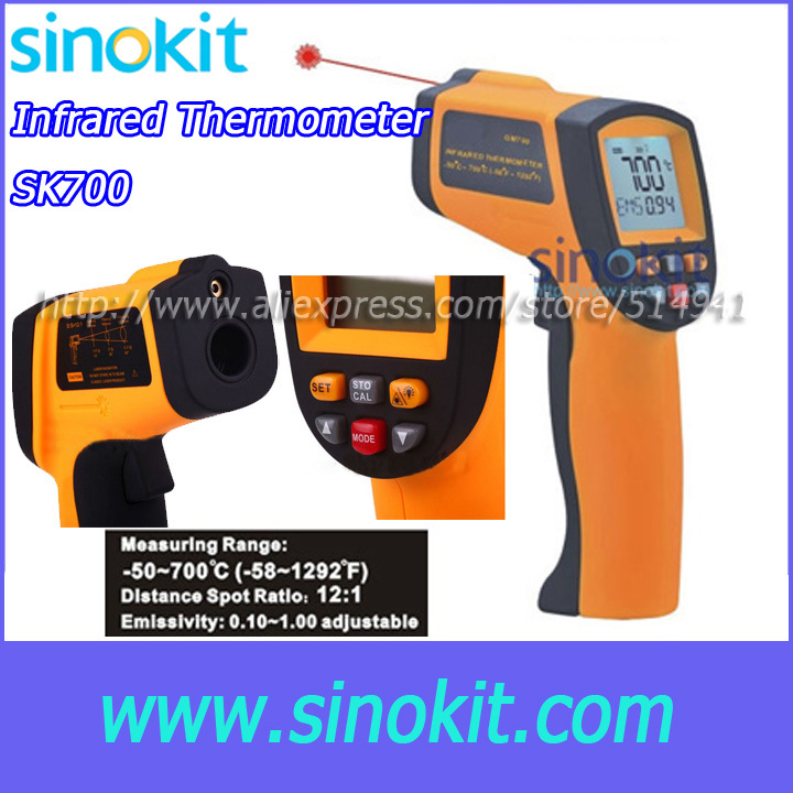 Free Shipping Professional Infrared thermometer SK700 infrared thermometer center 358 18 315c with free shipping