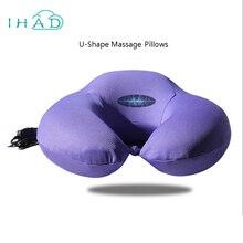 U-shape electric vibration memory pillow massage cervical spine health