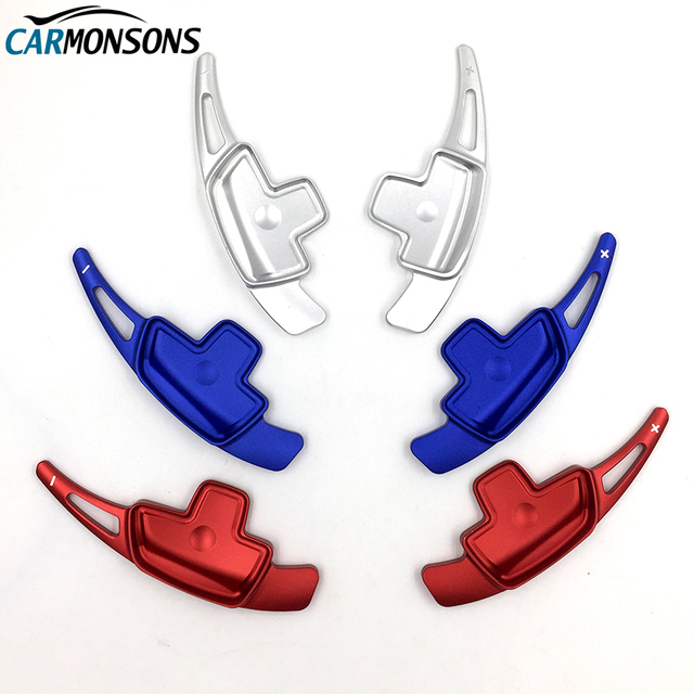 Carmonsons for Mercedes Benz CLA GLA Class C117 X156 Steering Wheel Paddle Shift Decoration Metal Trim Accessories Car Styling