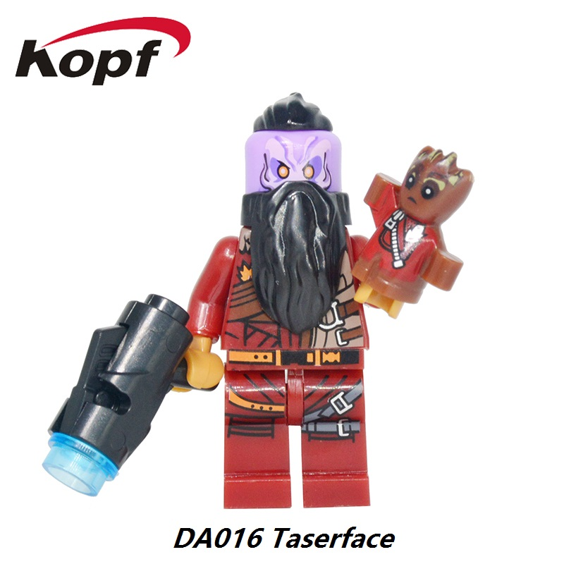 Guardians of the Galaxy 2 Taserface Drax The Deatroyer Yondu Nebula Groot Man Bricks Building Blocks Toys for children DA016 5 second fix liquid plastic welding kit uv light repair tool glue kit