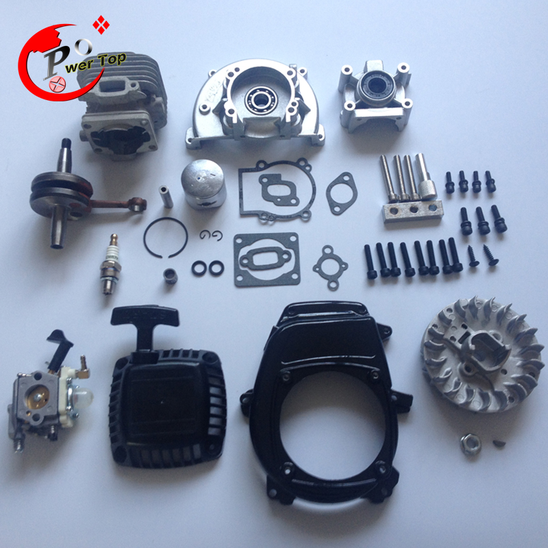 rovan engine 30.5CC 4 bolt kit with RuiXing carburettor For 1/5 HPI BAJA 5B Parts King Motor rovan gas baja 30 5cc 4 bolt chrome engine with walbro carb and ngk spark plug for 1 5 scale hpi km losi rc car parts