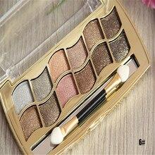 12 colors diamond bright colorful eye shadow palette super flash paleta de maquiagem Glitter eyeshadow with brush