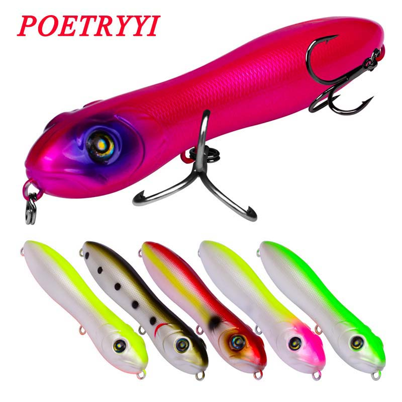 POETRYYI Boxed Topwater Fishing Lure 10.3cm 15.5g Pencil Popper Pesca Artificial Professional Wobblers For 30