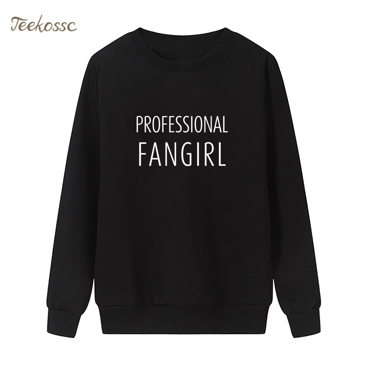 Professional Fangirl Sweatshirt Fashion Print Hoodie 2018 New Brand Winter Autumn Women Lasdies Pullover Loose Fleece Streetwear