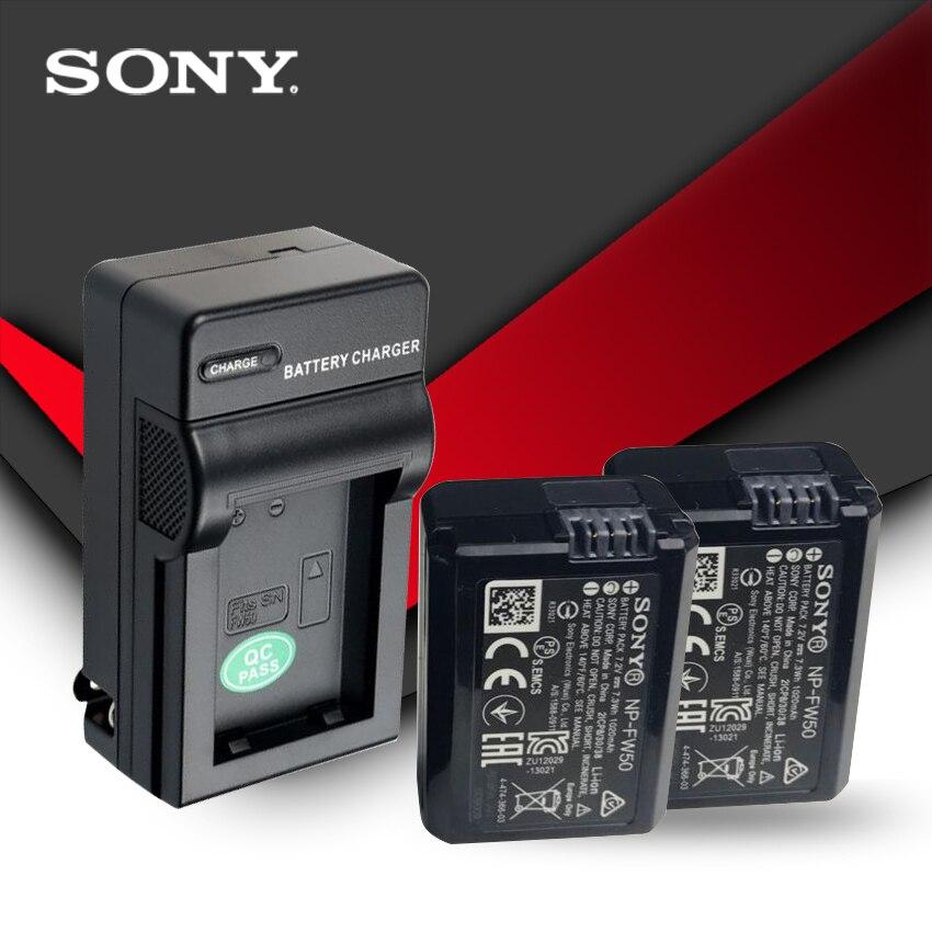2pc/lot Sony Original NP-FW50 NP FW50 NPFW50 Battery NEX-7 NEX-5R NEX-F3 NEX-3D Alpha A5000 A6000 Alpha 7 A7II