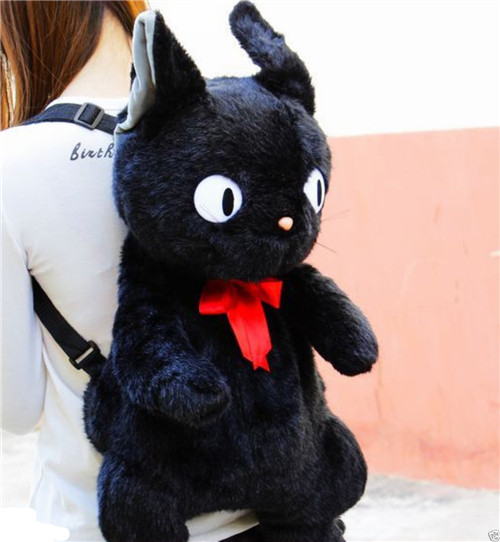 Women Studio Ghibli Black Cat jiji Kiki's Delivery Service Backpack Plush Bag 70cm 45cm Size пылесос ghibli classic briciolo 15856410001