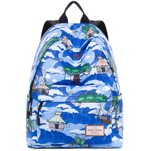 Canvas Travel Laptop Backpacks Durable Woman College School Bag Water Repellent Daybags Fit for 14 inch Computer Student Bookbag