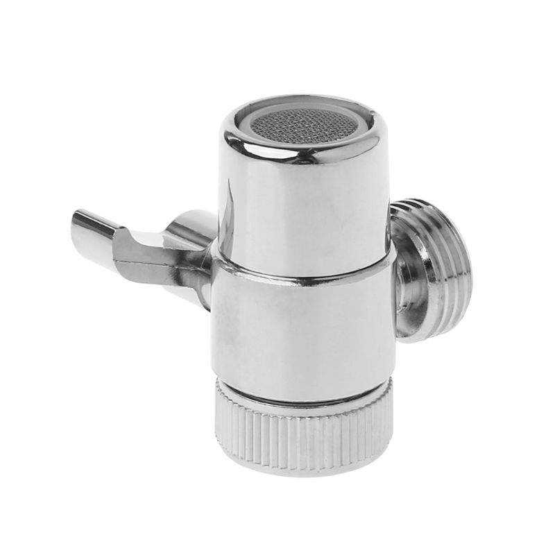 Brass 3-way Diverter Valve Faucet Connector Adapter Three Head Function Switch New 4