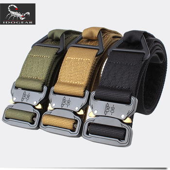 IDOGEAR 1.75 Inch CQB Quick Release Tactical Belt Riggers Airsoft Combat Belt Metal Buckle Military Tactical Gear