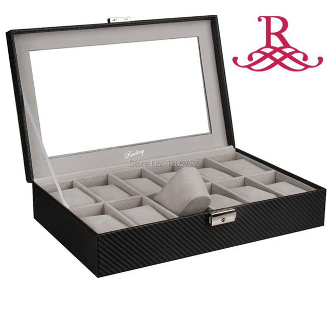 ROWLING Watch Box Jewelry Display Box 12 Slots MENS WOMENS Watch