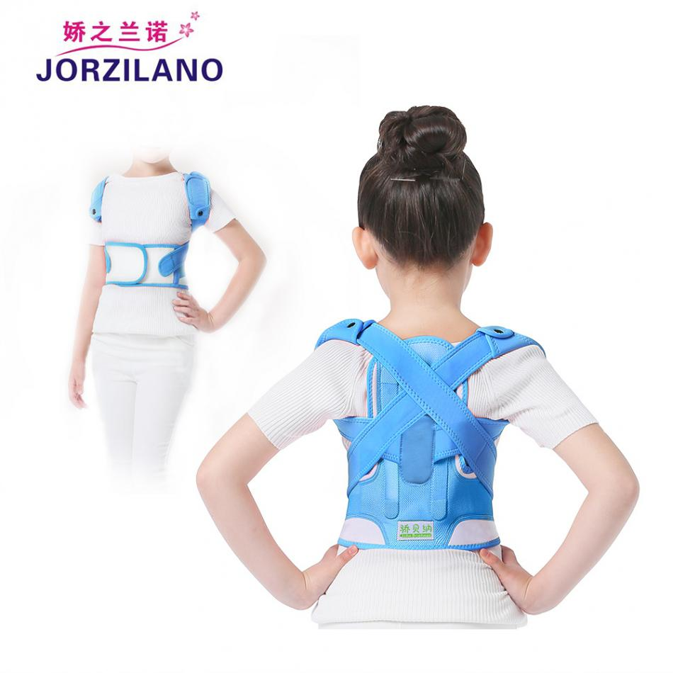 JORZILANO Adjustable Back Corset Posture Corrector Belt Shoulder Support Waist Brace Back Posture Correction for Adults & Kids hunchback kids children posture adjustable back support corrector belt brace for boys girls band