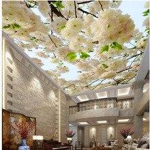 3D на заказ фрески DIY потолочные обои гостиная отель нетканый материал печатные HD цветы современные водонепроницаемые обои 311