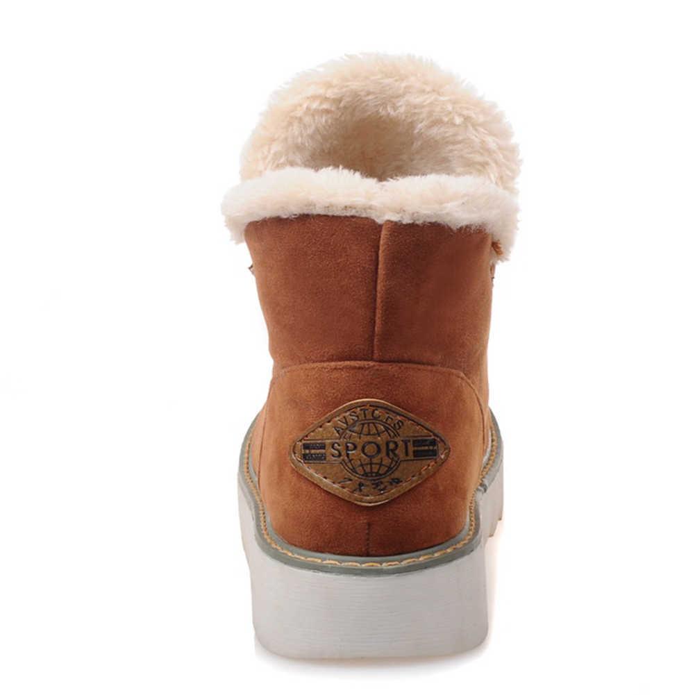 Karinluna novedades Dropship de gran tamaño 33-43 añadir piel caliente Rusia botas de invierno botas mujer zapatos de mujer resbalón en los zapatos de mujer botas