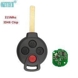 OkeyTech Smart Remote автомобилей брелок 315 мГц ID46 чип 4 кнопки для Benz Smart Fortwo 2005-2015 высокое качество remotekey