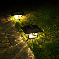 Solar Lamp Garden Waterproof LED Solar Light Outdoor Lighting Solar Energy Sunlight Household Fence Post Pillar Lamps Solar Lamp