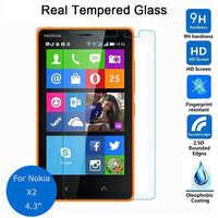 Para Nokia X2 Protector de pantalla de vidrio templado 0,26mm 2,5 9h película protectora de seguridad en X2 funda Dual Sim pelicula de vidro
