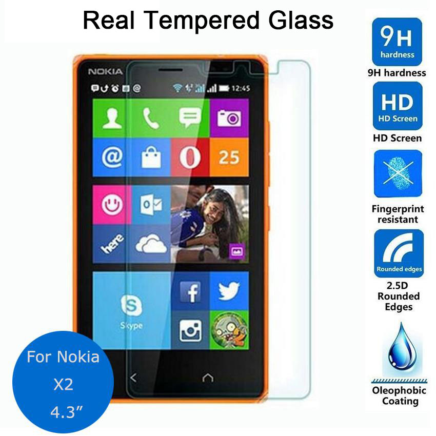 Pour Nokia X2 verre trempé protecteur d'écran 0.26mm 2.5 9h Film de protection de sécurité sur X2 double Sim couverture pelicula de vidro