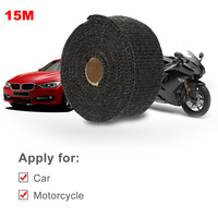 Youwinme 15m*5cm*1.5mm Car Motorcycle Insulating Cloth Exhaust Thermo Wrap Shield Protective Tan Tape Fireproof Roll